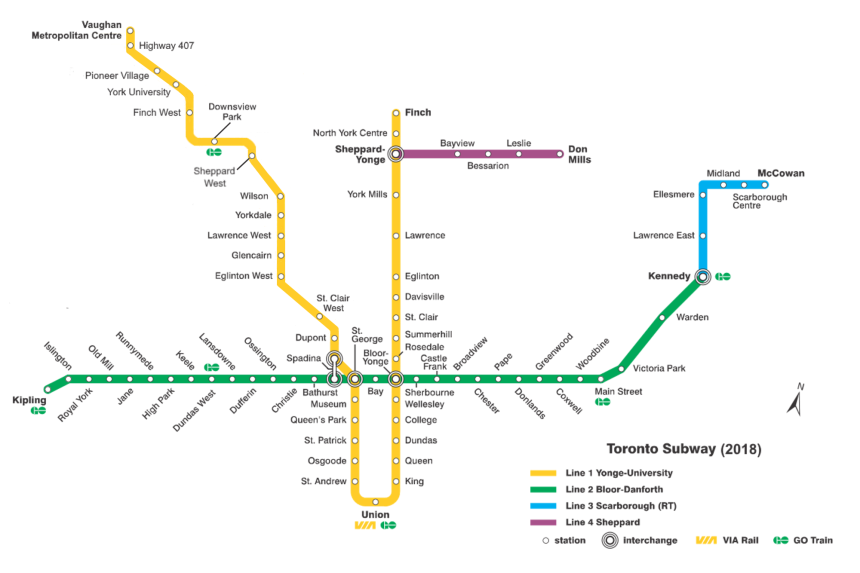 TTC_subway_map_2018